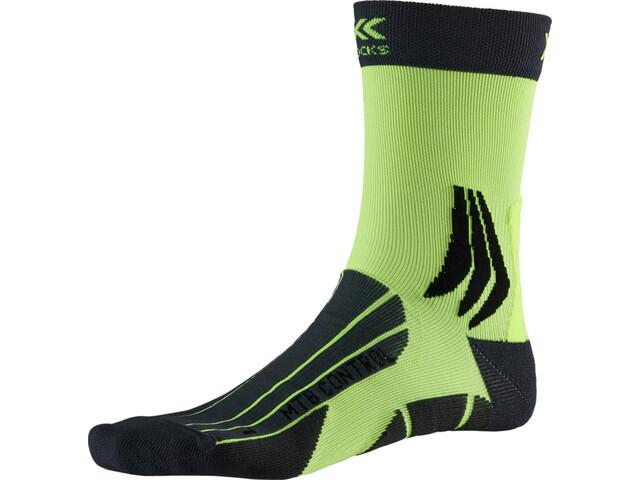 X-Socks MTB Control Strømper, charcoal /phyton yellow
